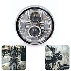 """Motorcycle LED 6 1/2"""" Projector Daymaker Headlight For Cafe Racer Bobber Touring  https://www.amazon.com/dp/B01MRFGXNJ/ref=cm_sw_r_pi_dp_x_ZfY9yb1GGBSZX"""