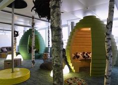 In this quiet green pod at Google in Zurich.   28 Places Where You'd Rather Be Working Right Now