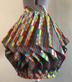 (this w/ a white tee) Hypnotic African Wax Print Lampshade Skirt Multi Color Print African Fashion Designers, Latest African Fashion Dresses, African Print Fashion, Africa Fashion, Women's Fashion, Fashion Outfits, Modern African Fashion, Fashion Ideas, African American Fashion