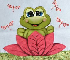Applique Templates, Applique Patterns, Quilt Patterns, Funny Frogs, Cute Frogs, Tole Painting, Fabric Painting, Frog Illustration, Frog Pictures