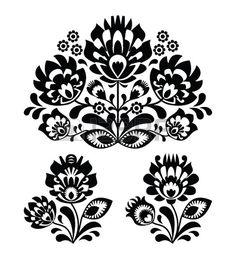 Folk broderie de fleurs - mod�le traditionnel polonais photo                                                                                                                                                                                 Plus