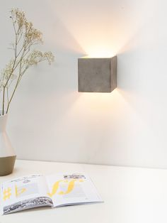 [B3] WALL LIGHT CUBIC – GOLD, SILVER OR COPPER – CROWDYHOUSE
