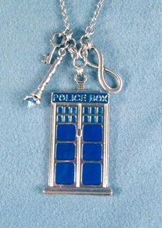 Tardis Key Doctor Who Sonic Screwdriver Necklace Phone Box Time The DR | OrrWhat - Jewelry on ArtFire