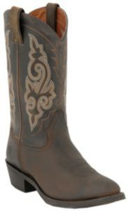 Double H Boots Men's DIstressed Brown R-Toe Western Boots | Cavender's