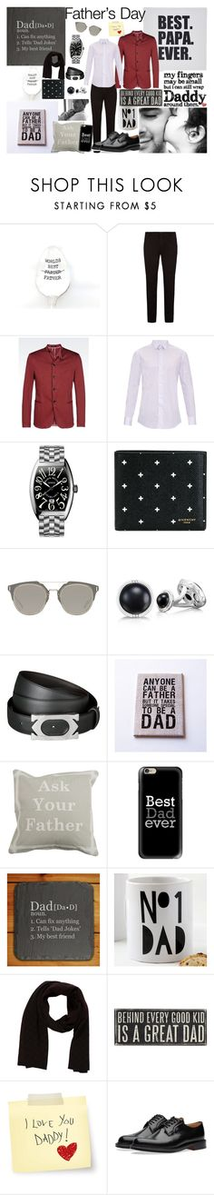 """""""happy father's day"""" by ines-varela-haillot on Polyvore featuring BOSS Hugo Boss, Armani Collezioni, Lanvin, Franck Muller, Givenchy, Christian Dior, Victoria Beckham, Tacori, Cartier e Park B. Smith"""