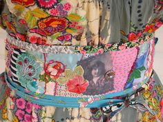 Crazy Quilted Embellished Beaded Sash by FrayedandTwisted on Etsy, $85.00