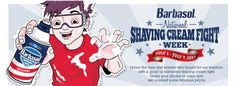 Barbasol :: National Shaving Cream Fight Week. Fun thing to do over the July 4th holiday. You can submit photos and video to win prizes!