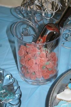 Candy pumpkins at a Cinderella birthday party! See more party ideas at CatchMyParty.com!