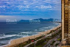 Brazil - Baja Beach in Rio de Janeiro, morning sunlight royalty-free stock photo