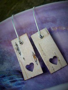 birch bark earrings, Nutalket (Penobscot)