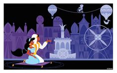 Disney Doodles: Aladdin & Jasmine at 'it's a small world' « Disney Parks Blog