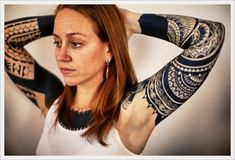 Full Tribal Tattoo Designs For Arms For Women On Sleeve ~ http://tattooeve.com/tattoo-design-for-arms/ Tattoo Design