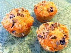 Hartige Olijven-Rozemarijn muffins van amandelmeel