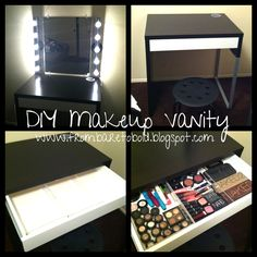 DIY makeup table | DIY Makeup Vanity on a budget | From Bare to Bold