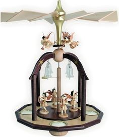 PYRAMID PYRAMID CANDLE WITH 7 ANGELS BELLS Blank and Ore