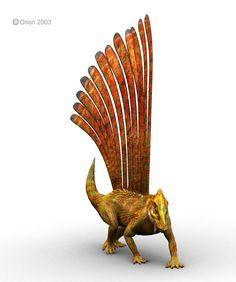 Esta curiosa criatura viveu durante o período jurássico. O Longisquama era um animal pequeno, semelhante a um lagarto, e acredita-se que ele tinha longas penas nas costas. Por este motivo, alguns cientistas acreditam que os pássaros podem não ter evoluído a partir de terópodes, e sim de animais deste tipo. . Longisquama