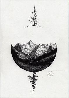 mountains/black/dark/sphere