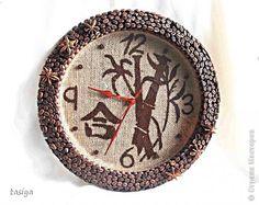 Приветик мои хорошие....Получила заказ на часы в японском стиле. Пожелание заказчика-бамбук, кофе, иероглиф....Вот, что получилось)))) фото 1