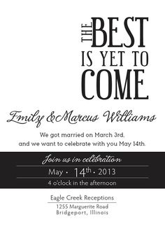 Black and white Wedding Announcement Printable by DontPanicDesign