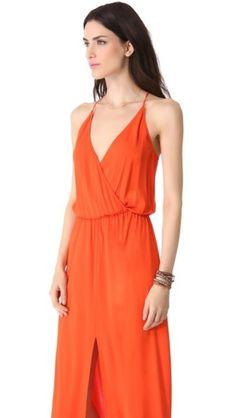 Maxi Wrap Dress for Beach