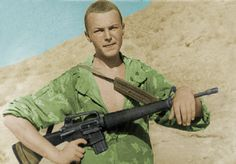 Soviet soldier with a captured M16. Soviet-Afghan War. Pin by Paolo Marzioli