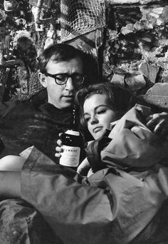 "Woody Allen with Romy Schneider in ""What's New Pussycat?"" (1965)"