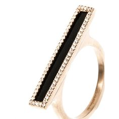 MONIQUE PAN Diamond, black agate & gold ring (35.790 NOK) ❤ liked on Polyvore featuring jewelry, rings, gold jewellery, gold jewelry, antique gold jewelry, diamond jewelry and diamond band ring