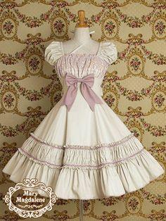 Mary Magdalene Mint Lolita Dress , I love that pink lace on the dusty mint dress! Harajuku Fashion, Kawaii Fashion, Lolita Fashion, Cute Fashion, Japanese Fashion, Asian Fashion, Pretty Dresses, Beautiful Dresses, Victorian Fashion