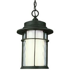 Bel Air Lighting Rust Outdoor Pendant with Opal Glass-5293 RT - The Home Depot