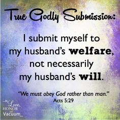 True Godly Submission