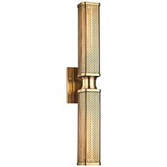 """Hudson Valley Gibbs 22 1/4"""" High Aged Brass Wall Sconce"""