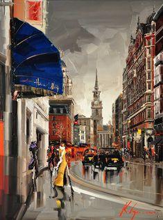 "Kal Gajoum ~ St. Martin's Lane, London  ~  40""x30"""