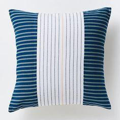 Steven Alan Centered  Ribbon Pillow Cover - Lagoon #westelm