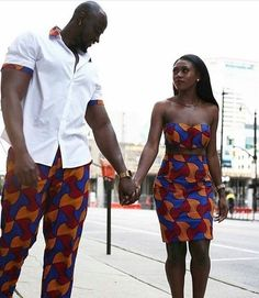 African couples clothing, African couple's dress, Ankara dress for couples, African print wax. Couples African Outfits, Couple Outfits, African Attire, African Wear, African Dress, African Style, Couple Clothes, African Women, African Inspired Fashion