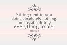 Being in close proximity of someone I love, engaged separately, but physically near.......calming for a busy mind.