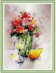 A Professional in Depth loose pick-n-mix Flower watercolor tutorial