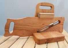 Hand Made Cherry Wood Salami Cheese Slicer Chopper  #Salami #slicer #kitchen
