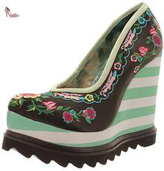 Irregular Choice , chaussures compensées femme - Noir - Green-Black, 41 - Chaussures irregular choice (*Partner-Link)