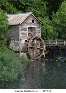 Old Mill With Water Wheel