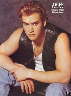 """""""Mark Paul Gosselaar (AKA Zack Morris) is Fashion Goals Zack Morris, Mark Paul Gosselaar, Elizabeth Berkley, Tiger Beat, Saved By The Bell, 90s Nostalgia, Leather Vest, 90s Kids, 90s Fashion"""