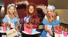 Alice Candy Hostesses and Candy Boy Mad March Hare greet guests at this exciting ALICE IN WONDERLAND themed event  Tel: 020 3602 9540  UK ENTERTAINMENT AGENCY spreading Alice in Wonderland love across MANCHESTER, STAFFORDSHIRE, BIRMINGHAM, BRISTOL, BRIGHTON & LONDON http://www.calmerkarma.org.uk/Alice-in-Wonderland.htm