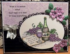 WT569 Wine and Duct Tape by Shoe Girl - Cards and Paper Crafts at Splitcoaststampers