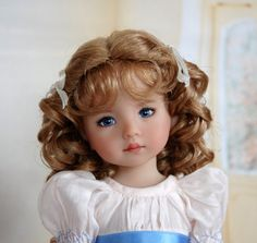 Dianna Effner 10 in all vinyl Doll. Painted by Kuwahi Dolls She's so adorable Pretty Dolls, Cute Dolls, Beautiful Dolls, Reborn Dolls, Baby Dolls, Porcelain Dolls Value, Fine Porcelain, Doll Painting, Vinyl Dolls