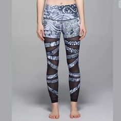d8a3d083773 Lululemon High Times Legging See thru mesh. Brand new with tag. Very hard to
