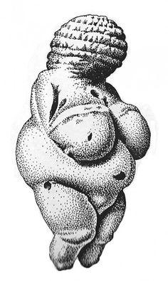 Venus of Willendorf 30,000 to 27,000 BCE. A limestone figurine found near Krems, Austria by Edwina Hannam