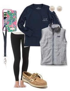 """extra preppy"" by pmargaret ❤ liked on Polyvore featuring Aerie, Sperry, Lilly Pulitzer, Vineyard Vines, Patagonia, Givenchy and Links of London"