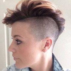 Short Hair Beauty : Bad Ass Hair Cut/Color.....love it!