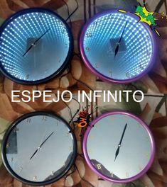 Arma Tu Propio Espejo Infinito Mirror Wall Clock, Diy Mirror, Led Infinity Mirror, Infinity Table, Mirror Illusion, Laser Cutter Projects, Lights Fantastic, Luz Led, Ceiling Light Fixtures