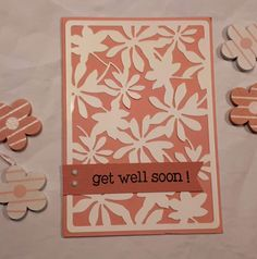 Scrapbooking Action, Get Well Soon, Marianne Design, Paper Cards, Stamps, Crafts, Diy, Flowers, Cards