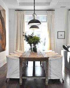 Yay for monday room redo vote time! First up? this great vintage industrial inspired dining room. Would you like to see us recreate it? If yes thank like it to vote  The pic with the most votes will be our next room redo! Photo source unknown feel free to let me know if you know where its from! #CopyCatChic